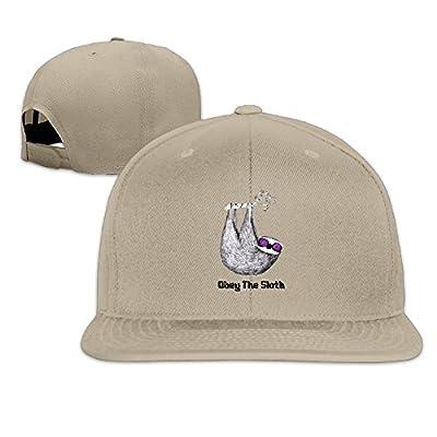 Kusster Unisex Flat Hiphop Cap,Hip Hop Hat,Hats Obey The Sloth,Sports Cap,Baseball Hats,Snapback - Sloth Caps