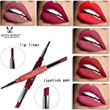 Lip Liner Pencil Set, Elevin(TM) 8 Color Double-end Waterproof Lasting Lipliner Waterproof Lip Liner Stick Pencil Lipstick Pen (00# (one set))