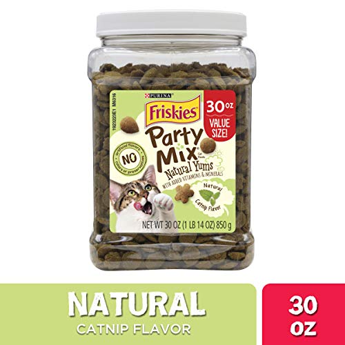 Cheap Party Snacks (Purina Friskies Made in USA Facilities, Natural Cat Treats, Party Mix Natural Yums Catnip Flavor - 30 oz.)
