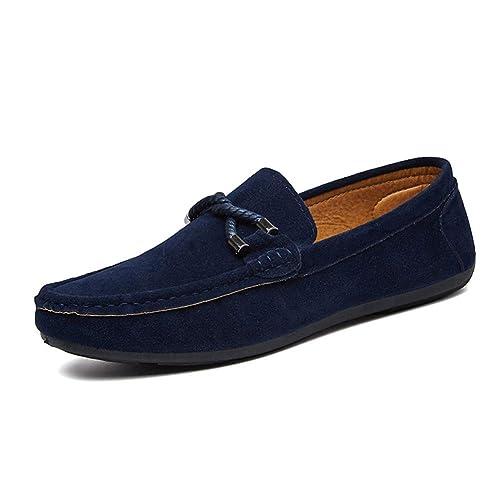 Huatime Informal Canvas Zapatos Hombre - Hombres Slip On Cuero Resbalón Zapatillas Mocasín Mocasines Alpargatas Deportes Running Naúticos Tenis Penny ...