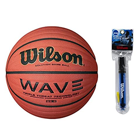 Wilson WTB0601R 28.5-Inch Intermediate Size NCAA Wave Solution Indoor Game Basketball (Intermediate (28.5) - Wilson Solution Ncaa Basketball