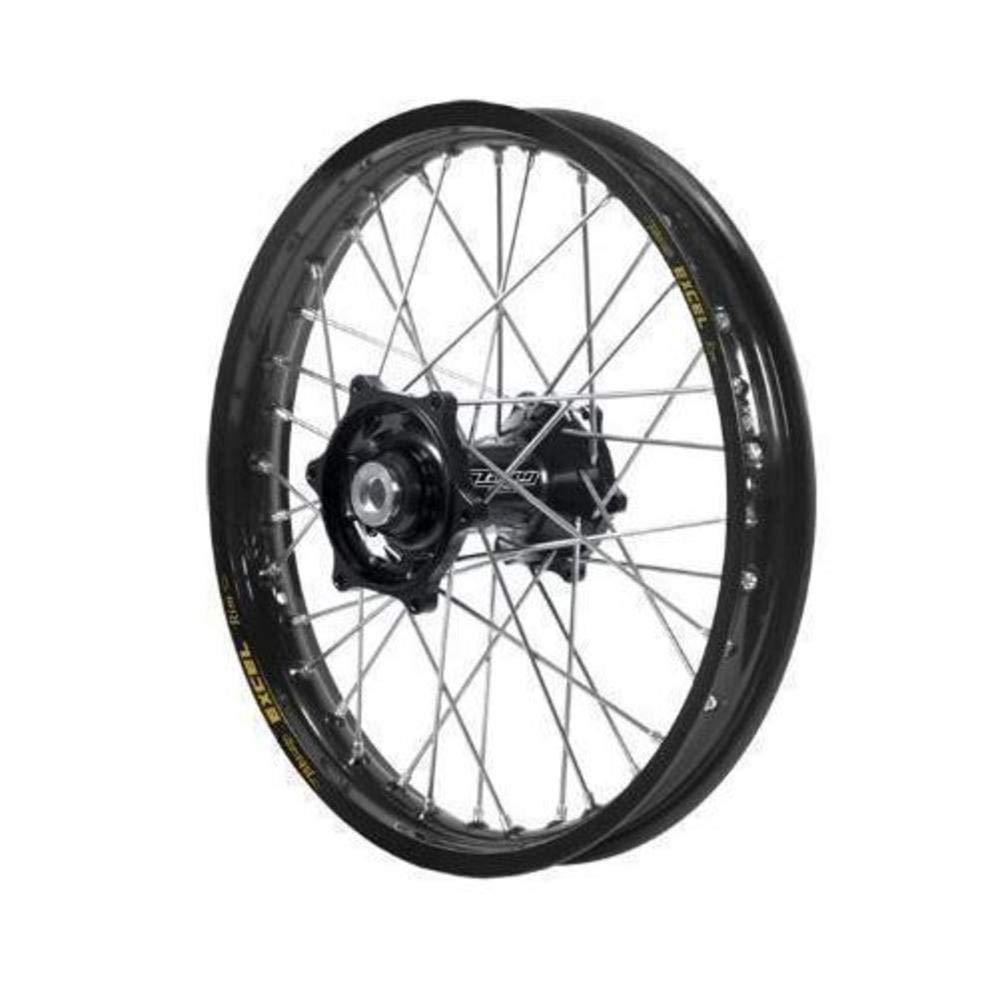 Dubya Talon Black Hub with Excel Takasago Black Rim Painted Finish Front Wheel (1.60x21'')