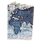 Ocean Currents Map Travel Passport Holder