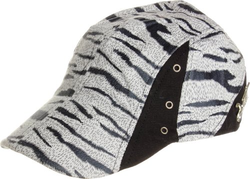 LL Women's Spring Summer Zebra Prints Newsboy Ivy Caps - Black and White ()