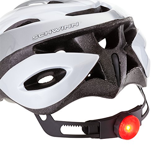 Schwinn Thrasher Adult Helmet with rear tail light.