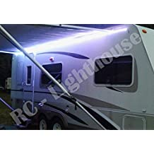 RV Awning Camper 16.4ft RGBWW Color Changing LED Strip Light Kit, with 5050 300 leds Waterproof RGBWW LED Flexible Lighting, Controller with 40 Key RGBW Remote Controller and 12V Power