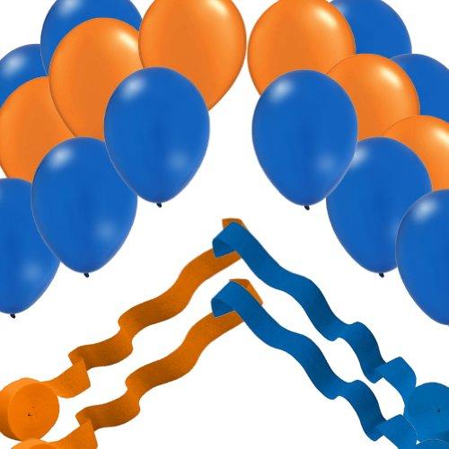 Orange Streamer Rolls Balloons Decorating