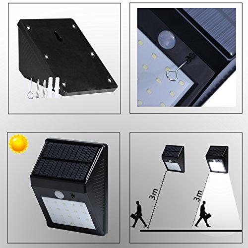 Solar Motion Sensor Lights 20 Led Outdoor Waterproof