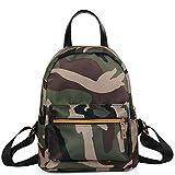 Anyada Women Teenage Girls Boys Solid Zipper Backpack School Bag Fashion Shoulder Bag (Camouflage)