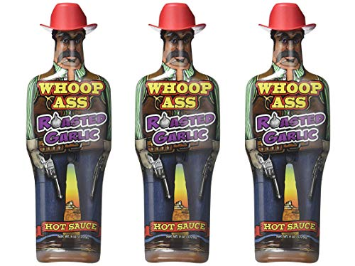 Whoop Ass Roasted Garlic Hot Sauce -3-Pack