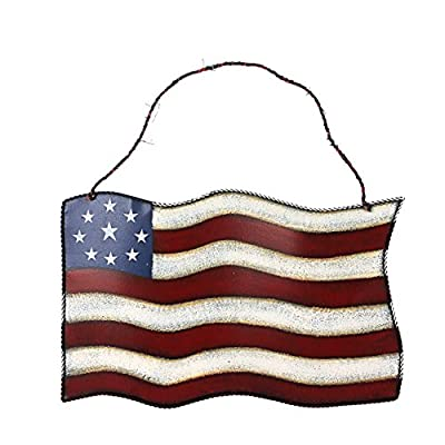 Metal American Glory Flag Wall Art Hanging (American Flag)