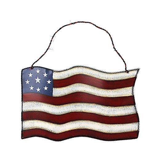 [Metal American Glory Flag Wall Art Hanging Decoration (American Flag) (15