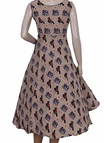 c70ef21f6d5 Glitters Cream Kalamkari Umbrella Cut Frock Cotton  Amazon.in  Clothing    Accessories