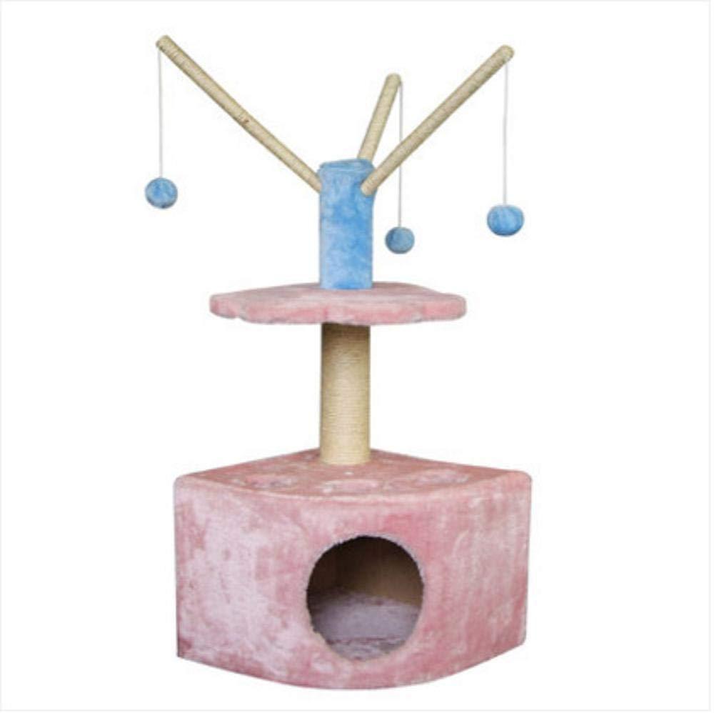 Bronze Weiwei Cat Climbing Frame sisal cat Grabbing Column cat Tree cat Jumping Platform for Sleeping Games