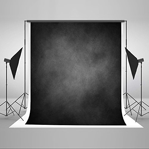 Photo Printing (5x7ft Kate Photo Studio Backdrop Retro Solid Light Backdrops Digital Printing Black Background Hazy for Wedding Studio Photography)