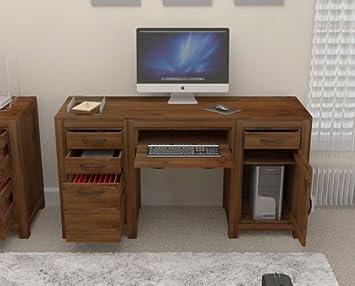 Oak furniture house grand en bois massif noyer meubles bureau pied