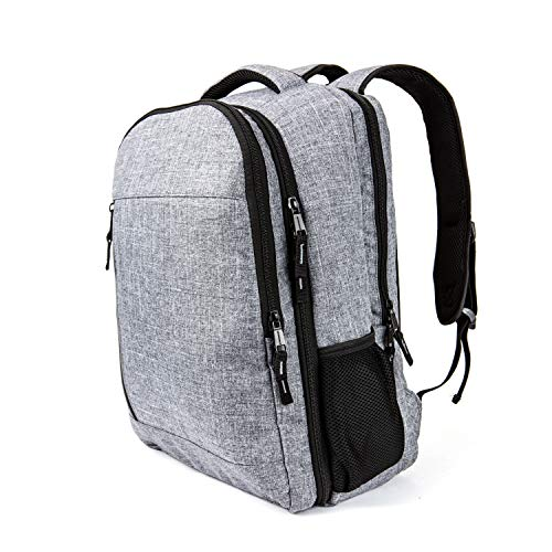 NeverXhale Smokepack Travel Laptop Backpack with 3 Removable Padded Compartments - Gray (Bong Carrying Case)