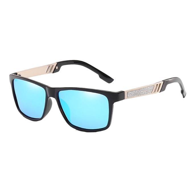 Zhhlaixing Coloridas Gafas de Sol Polarizadas Hombres Mujeres Retro para Pesca Deportiva Conducción Montar Vacaciones Viajar