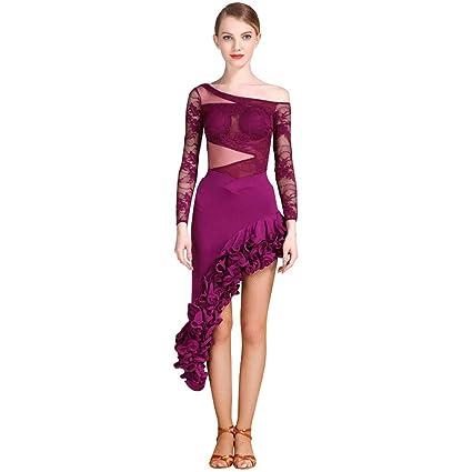 56f013a4f8 Traje De Vestido De Baile Latino para Mujer
