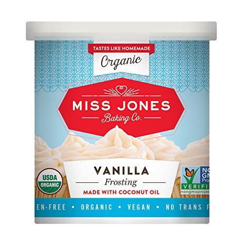 Miss Jones Baking Organic Frosting, Vanilla (Pack of 3) Vegan Vanilla Cake