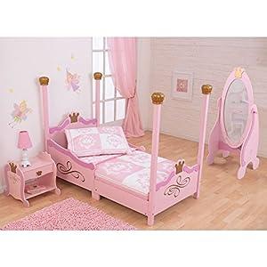 KidKraft Princess Toddler Bed – Pink – 76121