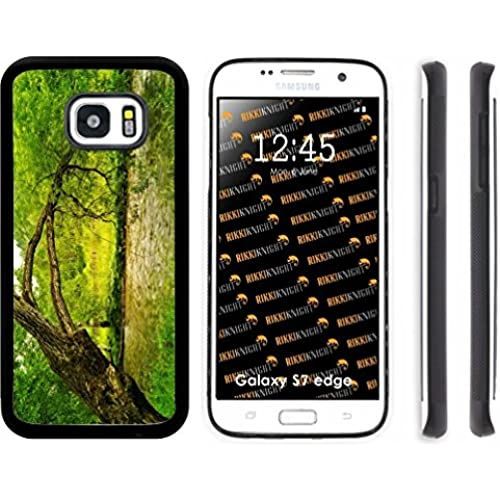 Rikki Knight Big Tree on bank Design Samsung Galaxy S7 Edge Case Cover (Black Rubber with front Bumper Protection) for Samsung Galaxy S7 Edge ONLY Sales