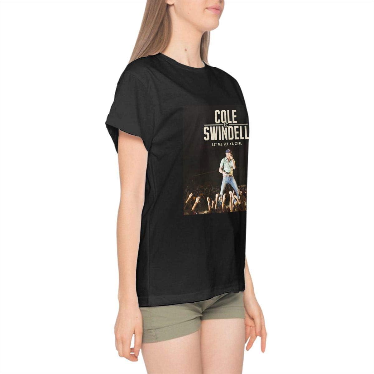 DANIEL BURTON Black Cole Swindell T-Shirt Summer Breathable for Womens
