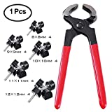 TTBD 10 Pairs Women's High Heel Shoes Replacement Tips Repair Dowel Pin (8/9/10/11/12 mm) with Stiletto Remove Pliers Shoe Repair Kit (5 Different Sizes) (Red)