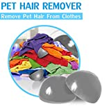 Pet Hair Cleaner Remove Dog Hair Cat Fur on Clothes 2-Pack Pet Hair Remover Furniture Hair Remover Pet Hair Catcher Reusable Fur Removal for Dryer