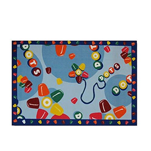 Tootsie Roll Home Decorative Area Rug Nylon Tootsie Roll Dots -39