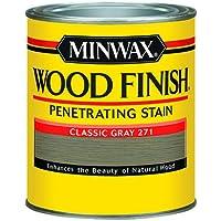 Minwax 227614444 Wood Finish Penetrating Interior Wood Stain 1/2 Pint Classic Gray