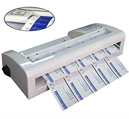 Automatic Electric Cutter - TOPCHANCES Automatic Business Card Cutter Binding Machine Electric Cutter 220V Voltage