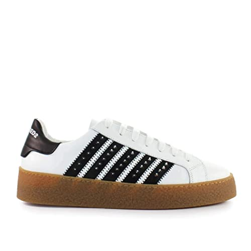779b9f19ec24 Men s Shoes Dsquared2 Rapper s Delight White Black Sneaker Spring Summer  2019  Amazon.co.uk  Shoes   Bags
