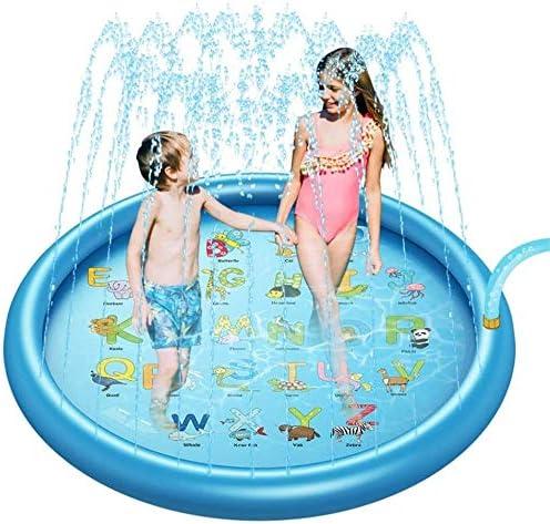 Juego Splash Pad Mat agua for los niños del niño de piscina for niños al aire libre for patios traseros Jardines Juegos de Verano de pulverización columna Diversión Juguetes de agua mejores