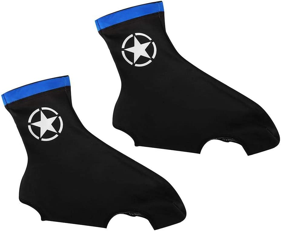 Lluvia Dilwe Resistente al Viento protecci/ón de Zapatos de Bicicleta Patas Funda para Zapatos de Ciclismo para Invierno Licra Transpirable