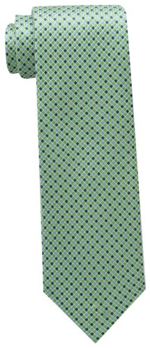 Tommy Hilfiger Men's Core Micro Tie, Green, One - Tommy Hilfiger Green