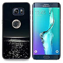 S-type Moon Night Glitter Ocean Water - Colorful Printed Hard Protective Back Case Cover Shell Skin For Samsung Galaxy S6 Edge Plus / S6 Edge+ G928