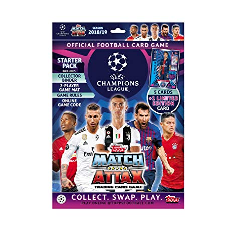 - Topps 2018-19 Match Attax Champions League Cards - Starter Pack (Album + 25 Cards & LE Gold Neymar Card) Look for Superstars Messi, Ronaldo, Mbappe, Neymar, Pogba, Salah, Pulisic & More!