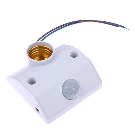 Demiawaking - Portalámparas E27 220 V con sensor de movimiento de rayos infrarrojos interruptor automático de