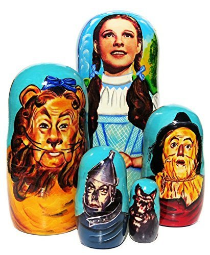 Wizard of Oz Nesting Doll 5-Piece Set Dorothy Russian Babushka Dolls Stacking Matryoshka Collectible Toy by Great Russian Gifts