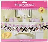 1st Birthday Glitter Photo Garland - Pink