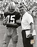Green Bay Packers Bart Starr, & Head Coach Vince Lombardi, 8x10 Photo, Picture.