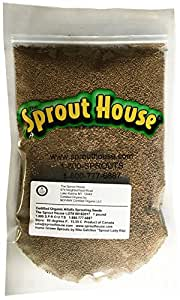 The Sprout House Certified Organic Non-GMO Alfalfa Organic Sprouting Seeds 1 pound