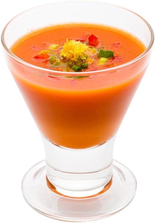 Martini Shaped Appetizer Glass Durable Glass Soup Glass Restaurantware 10ct Box Cocktail Glass 6.5 oz