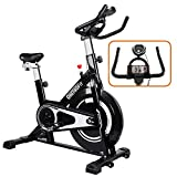 ONETWOFIT Indoor Cycling Bike,Silent Belt Drive Cycle Bike with Adjustable Handlebars & Seat, Chromed Flywheel,Stationary Bike for Home and Gym Use,Max Weight 330 Lbs