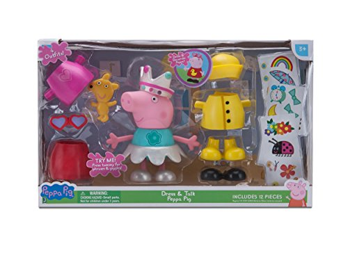 Peppa Pig Talking Dress Up Peppa Deluxe Figure Pack