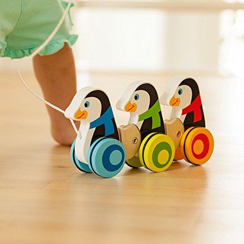 Fat Brain Toys Pull Along Penguins - Pull Along Penguin Parade