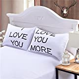 I Love You And Love You More Wedding Anniversary Pillowcase Cover Gift Set