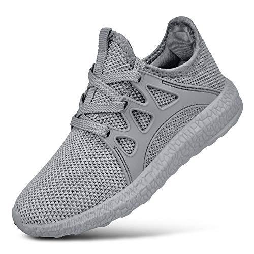 Biacolum Kids Sneaker Mesh Tennis Shoes Girls Boys Gray Size 1 M US Little Kid -