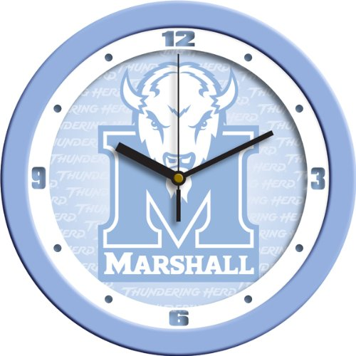 - SunTime NCAA Marshall University Thundering Herd Wall Clock - Baby Blue, Blue